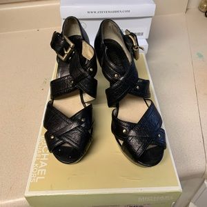 Michael Kors Black Strap Sandals